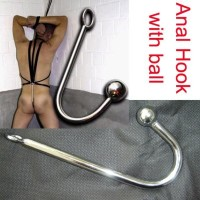 Anal Hook with Ball,Stainless Steel,Anal Plug