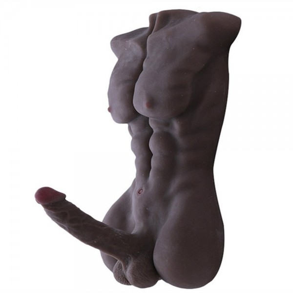Male Body Torso Love Doll, 3D Realistic Sex Toy Doll with Big Dildo for Women