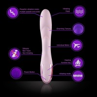 Hismith Dual Motor 10 Speed Vibrator With Heating Function Silicone Waterproof Vibration (Incarnadine)