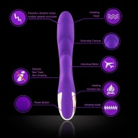 Hismith Dual Motor 10 Speed Vibrator With Heating Function Silicone Waterproof Vibration (Purple)