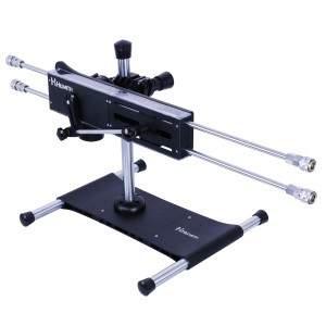 Máquina Sexual Premium de Hismith de Penetración Cuádruple, con 2 Dildos Seguros para el Cuerpo de Sistema Kliclok, Perfecta para la Doble Penetración o para Parejas Lesbianas