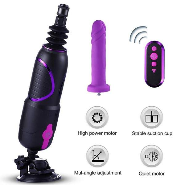 Hismith pro traveler, discreet portable sex machine with remote control & body-safe kliclok system dildo