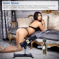 Máquina sexual Hismith premium de cuatro penetraciones con dos consoladores seguros para el cuerpo, perfectos para doble penetración