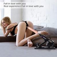 Máquina sexual asequible para parejas con 7 accesorios
