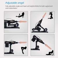 Adjustable sex machine device for women masturbation, automatic fucking machine gun with 6 dildos