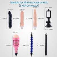 Hismith automatic sex machine with accessories for anal and vaginal sex and male masturbation