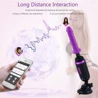 Máquina de sexo programable recargable Hismith, cápsula de máquina de follar portátil con múltiples velocidades y frecuencias